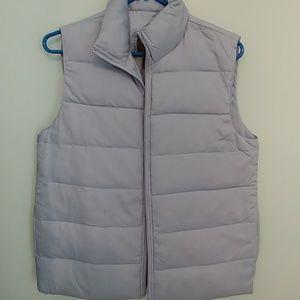 Brandon Thomas S Vest,  light blue zip up